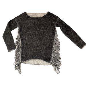 Oversized shredded sides destroyed comfy sweater speckled